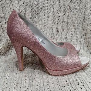 Maurices Pink Glitter Heels